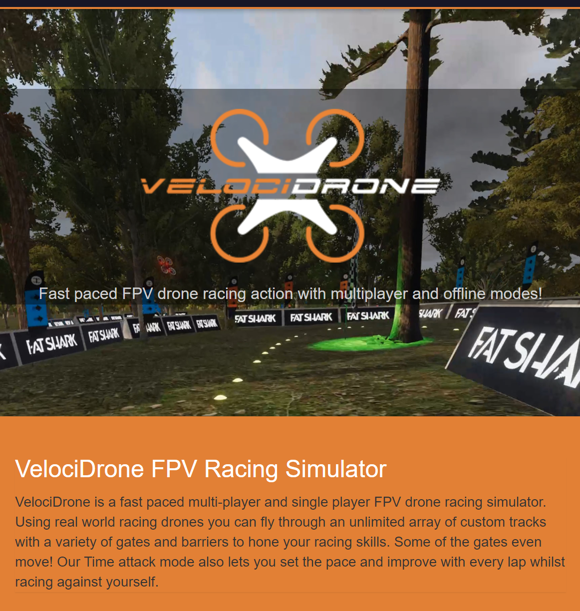 Play all our tracks on Velocidrone